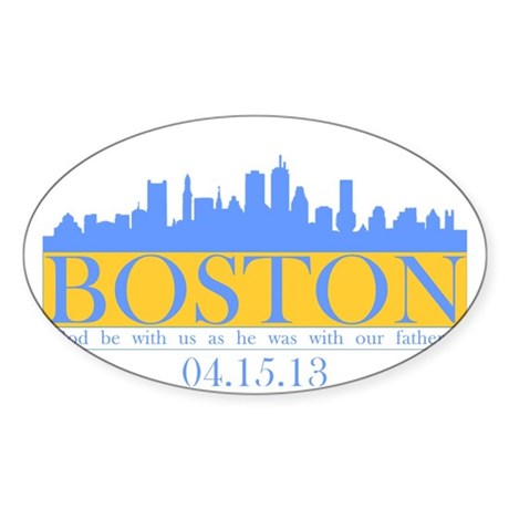Boston - God Be WIth Us Sticker (Oval)
