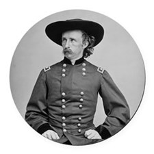 George A. Custer Round Car Magnet