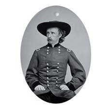 George A. Custer Oval Ornament