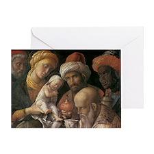 Andrea Mantegna Adoration Of The Mag Greeting Card