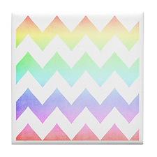 watercolorchevronsSC Tile Coaster