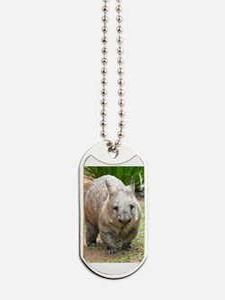 Common wombat - vombatus ursinus Dog Tags