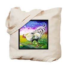 White Hen Illustration by GG Burns Tote Bag