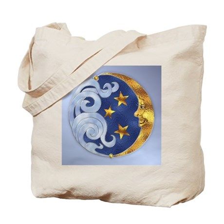 Celestial Moon and Stars Tote Bag