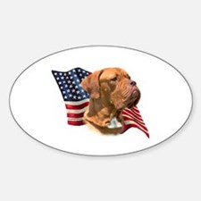 Dogue Flag Oval Decal
