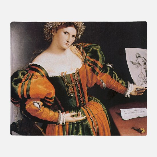 Lorenzo Lotto Lucretia Throw Blanket