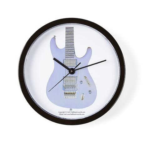 """Neon Sky"" Guitar Wall Clock"