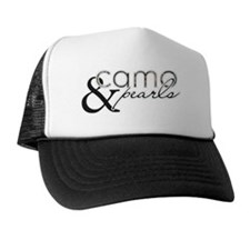 Camo  Pearls Trucker Hat