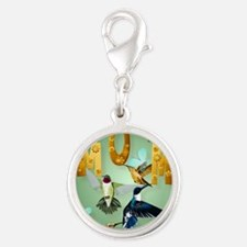 MOM-For to the birds Silver Round Charm