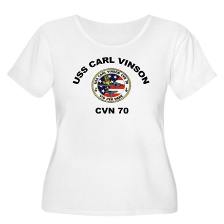 CVN 70 Women's Plus Size Scoop Neck T-Shirt