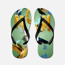 MOM-For to the birds Flip Flops