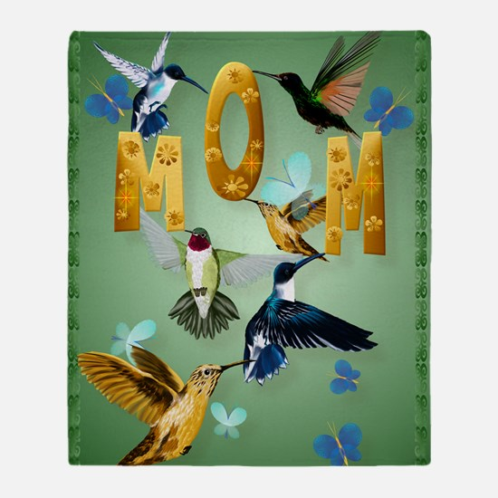 MOM-For to the birds Throw Blanket