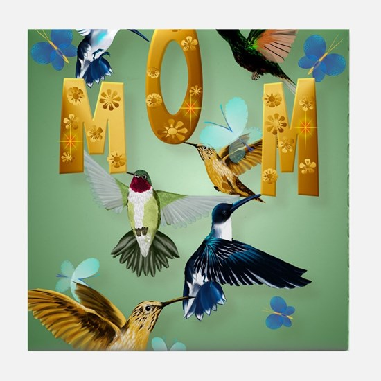 MOM-For to the birds Tile Coaster