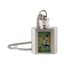 MOM-For to the birds Flask Necklace