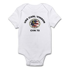 USS Carl Vinson CVN 70 Infant Bodysuit
