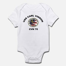 USS Carl Vinson CVN 70 Infant Bodysuit