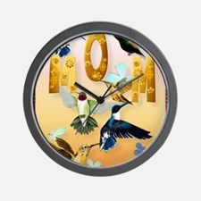 MOM-For to the birds on yellow Wall Clock