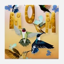 MOM-For to the birds on yellow Tile Coaster