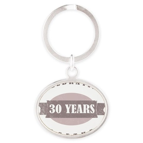 Vintage 30th Wedding Anniversary Oval Keychain By Admin CP1519247