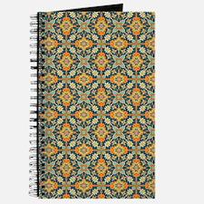 Elegant Aqua and Orange Journal