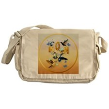 MOM-For to the birds on yellow Messenger Bag