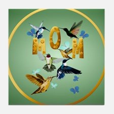 Circle MOM-For to the birds Tile Coaster