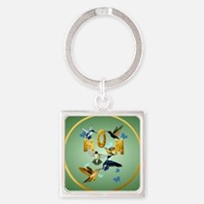 Circle MOM-For to the birds Square Keychain