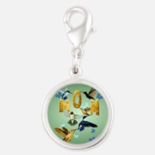 Circle MOM-For to the birds Silver Round Charm