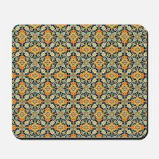 Elegant Aqua and Orange Mousepad