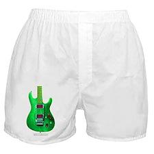 """Refl. Green"" Guitar Boxer Shorts"