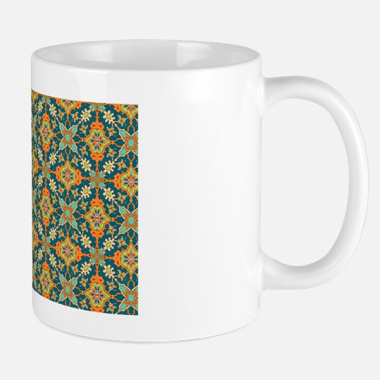 Elegant Aqua and Orange Mug