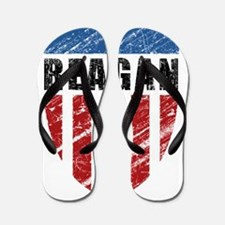 Reagan Patriot Shield Flip Flops