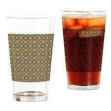 Elegant Aqua and Orange Drinking Glass