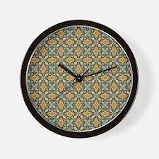 Elegant Aqua and Orange Wall Clock