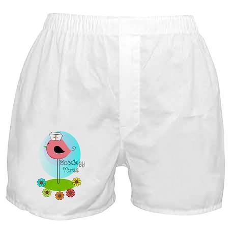 RN ff bird ONCOLOGY NURSE Boxer Shorts