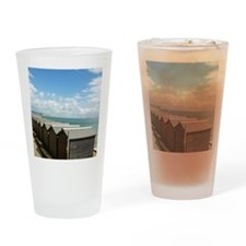 Isle of Wight Beach Huts Drinking Glass