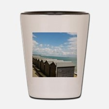 Isle of Wight Beach Huts Shot Glass
