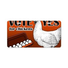 chicken-sign Aluminum License Plate