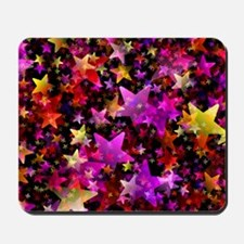 Rainbow Stars Mousepad