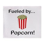 Fueled by Popcorn Throw Blanket