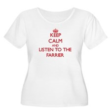 Keep Calm and Listen to the Farrier Plus Size T-Sh