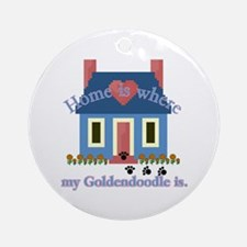 Goldendoodle Home Is Ornament (Round)