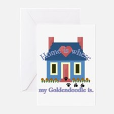Goldendoodle Home Is Greeting Cards (Pk of 10)