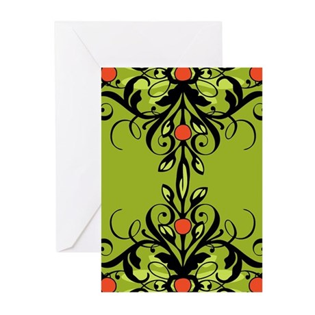 Fancy Mistletoe Greeting Cards (Pk of 10)