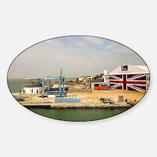 Isle of Wight Union Jack Doors Sticker (Oval)