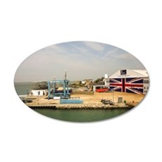 Isle of Wight Union Jack Doo 35x21 Oval Wall Decal