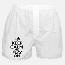 Keep calm and play Ice Hockey Boxer Shorts
