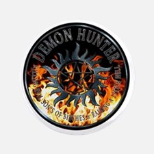 """Demon hunter protection Symbal Ring Pa 3.5"""" Button"""