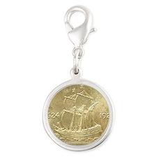 Huguenot-Walloon Half Dollar C Silver Round Charm