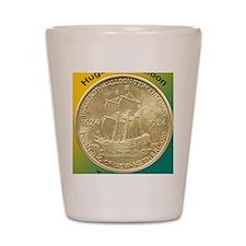 Huguenot-Walloon Half Dollar Coin  Shot Glass